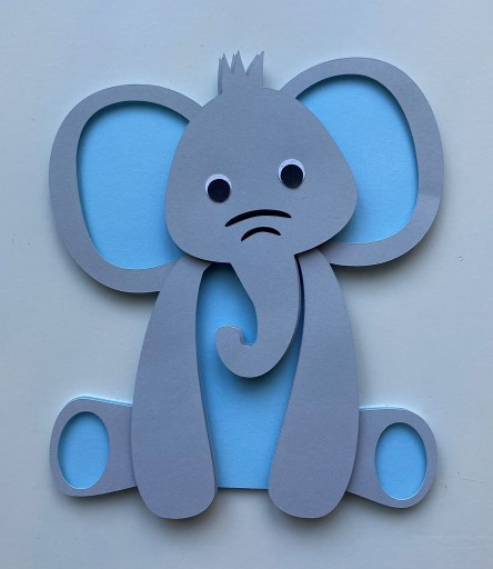 3D Layered Elephant SVG - Free File and Photo Tutorial