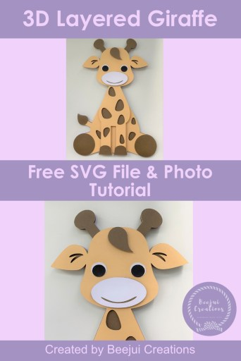 Free 3D Layered Giraffe - SVG File
