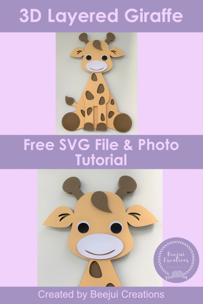 Free 3D Layered Giraffe - SVG File