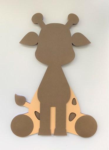 Giraffe Layer 4 adhered to Layers 1,2&3