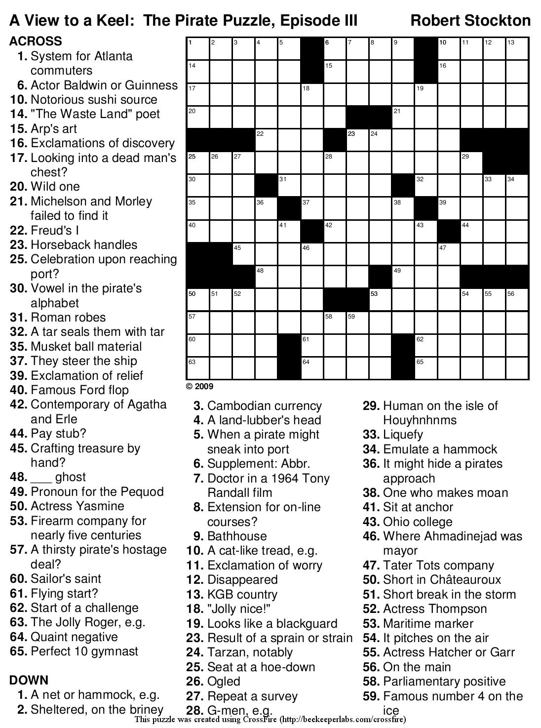 Printable Holiday Crossword