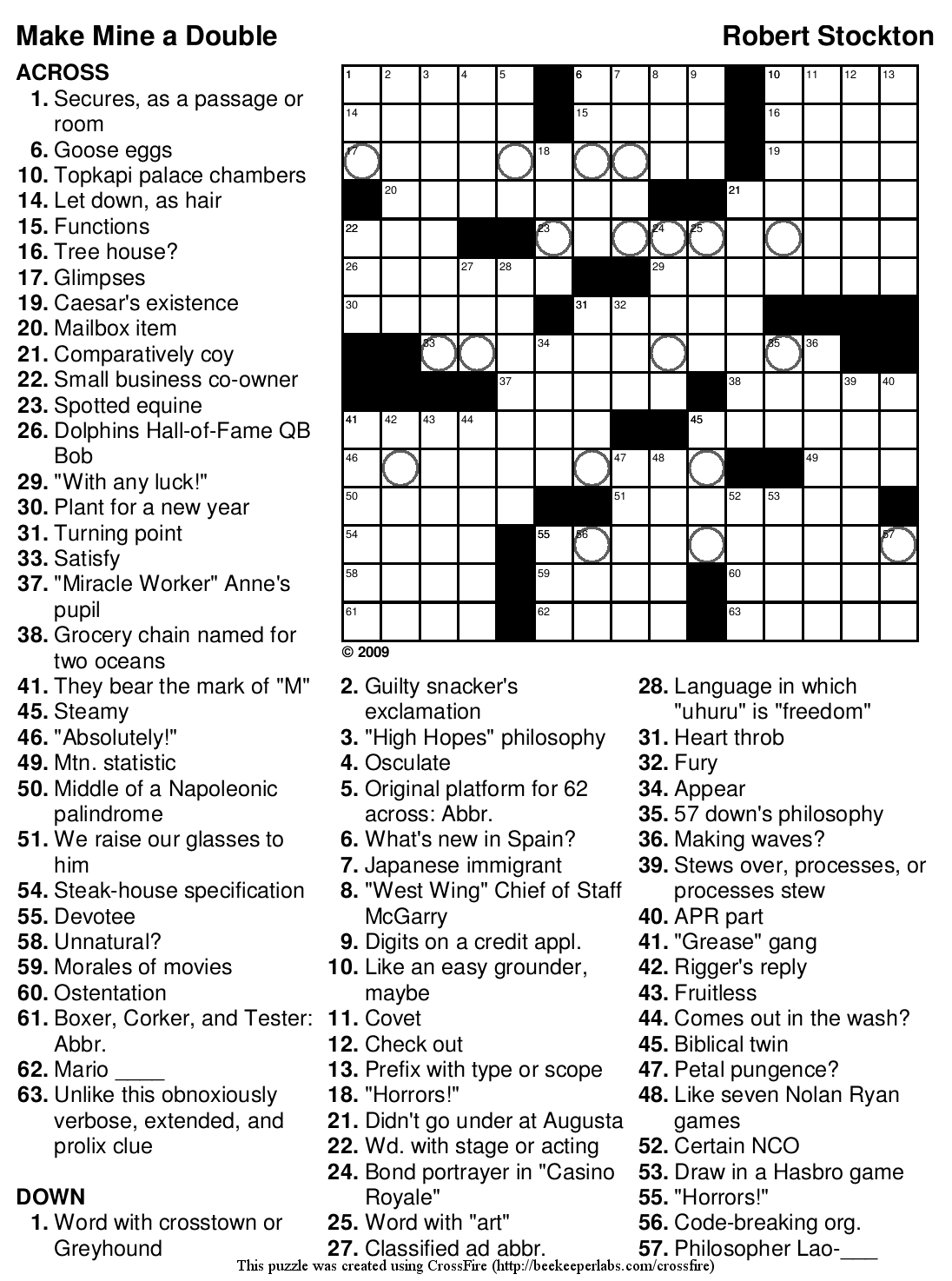 Beekeeper Crosswords