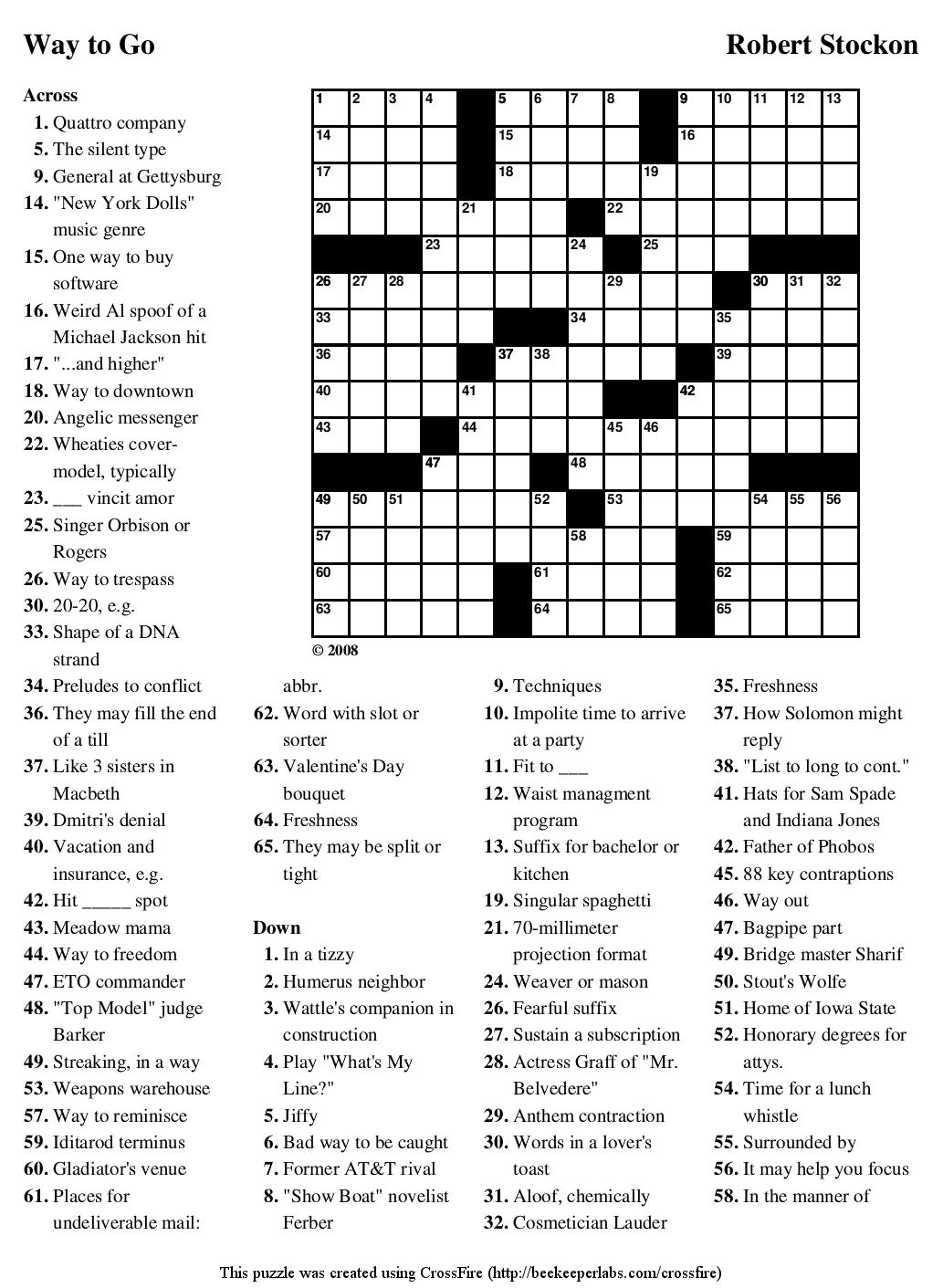 Medical Terminology Crossword Puzzles