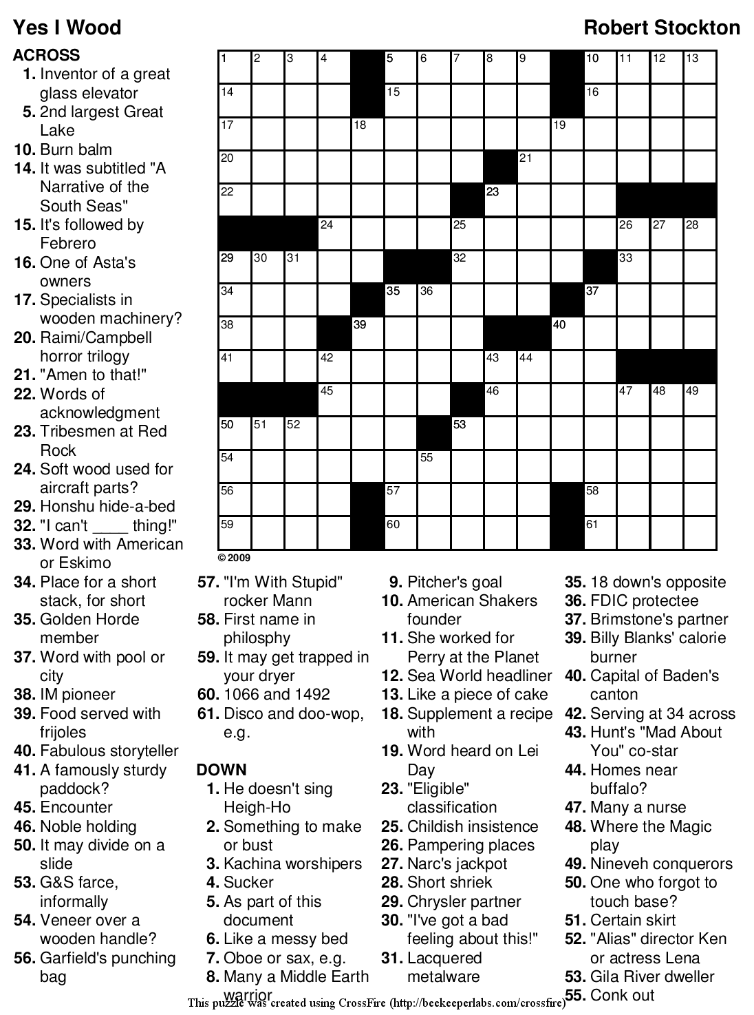 Beekeeper Crosswords Blog Archive Puzzle 100 Yes I