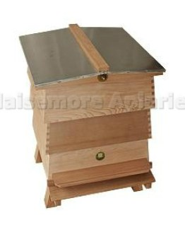 Cedar - WBC Beehive outer casing with Gabled Roof and Open Mesh Floor