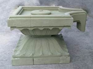 foam model for Shivalingam base (Paanipeetham)