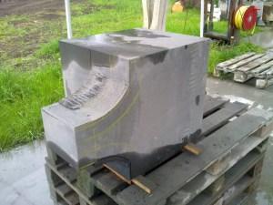 black panipeetham lingam granite precarving