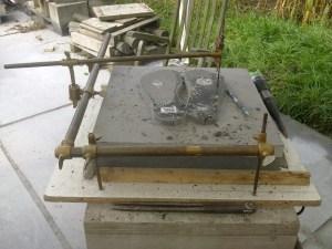 kopiëren met punteerappraat op graniet