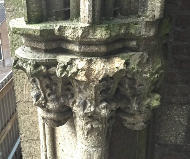 weathered tuff capital at the Stevens church in Nijmegen