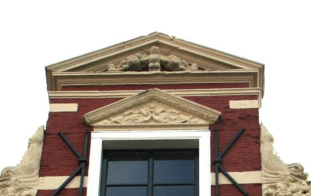 the tympanum onto which the falcon soon will appear