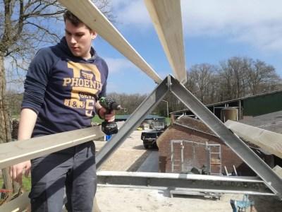 various jobs: shelter build with Joram