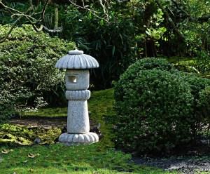 lantern in Japanese garden