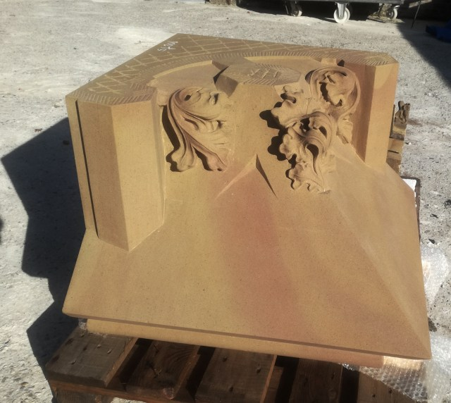 sandstone part for St. John's Cathedral