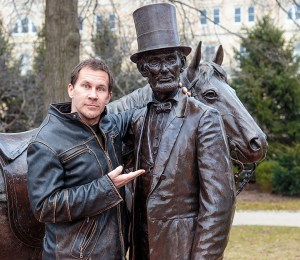 Michael Raymond and Abe Lincoln