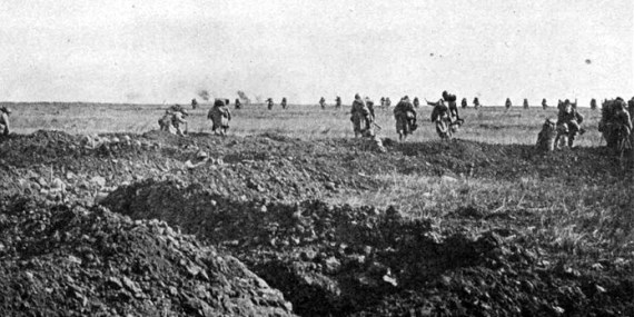 French Soldiers Attack at Chemin des Dames