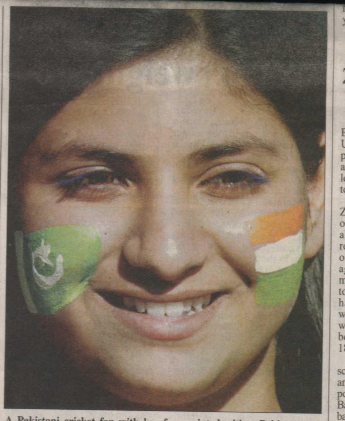 A Pakistani Girl Promoting Peace between Pakistan and India