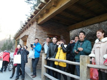 56 - Jiuzhaigou national park - westerns VIP 8chinese people taking pics of us)