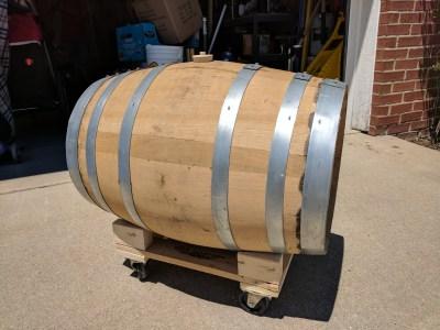 Barrel on Barrel Stand