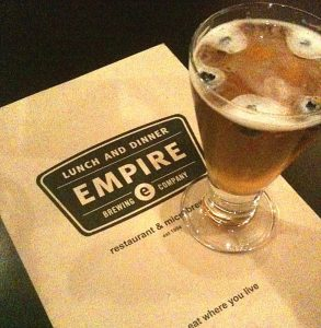 Blueberry Wheat at the Empire