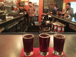 Flight of Belgian Strong Ales, conditioned differently