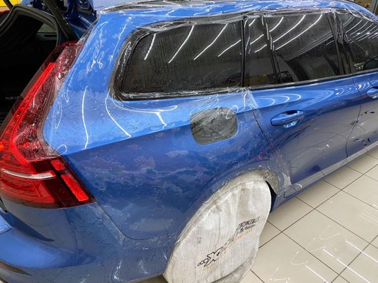 【台中汽車包膜】巴飛特汽車美容|VOLVO V60 T5 R-Design包膜全台第一貼|Xpel官方授權施工店家|自體修復保護膜|台中車體包膜推薦