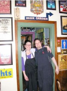The Fulton Pub's brewer (on right) and a co-worker.