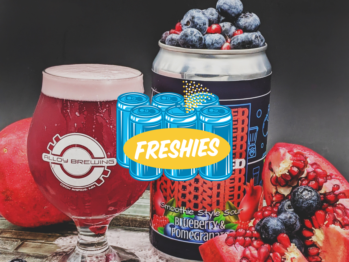 Alloy Smooshed Blueberry Pomegranate Smoothie Sour • Photo via Alloy Brewing