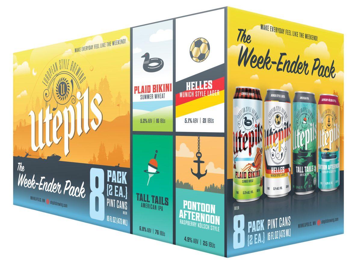Utepils Week-Ender Mixed Pack • Graphic via Utepils Brewing