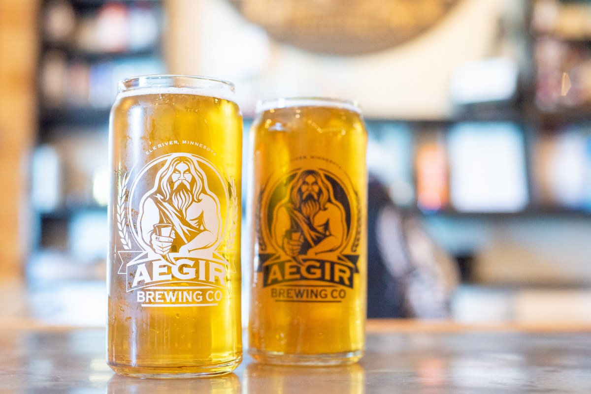 A Hazy IPA and the Cerveza Lager from AEGIR Brewing • Photo by Katelyn Regenscheid