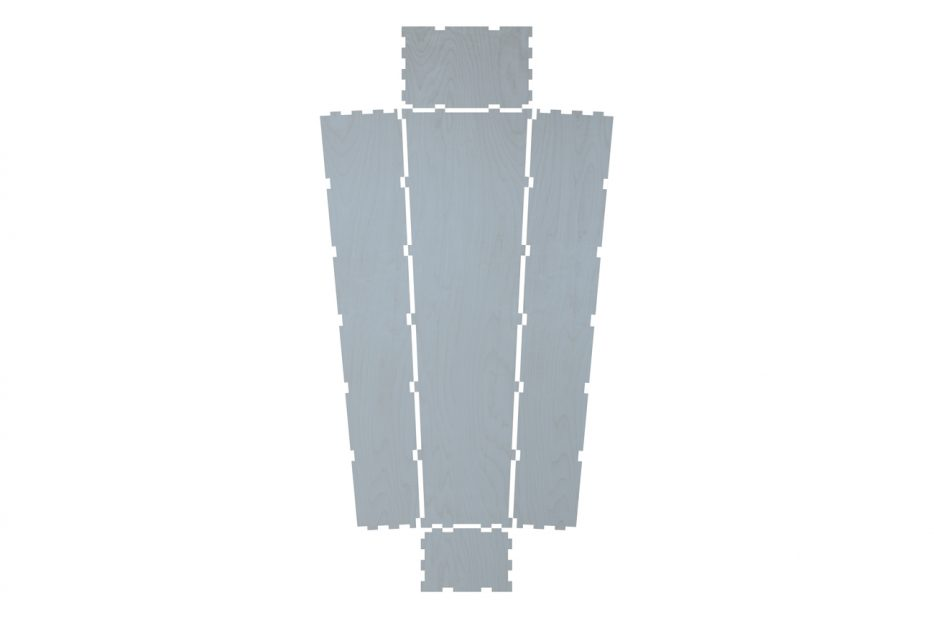 Uitvaartkist doodskist blauw pastel Lay-out Beerenberg