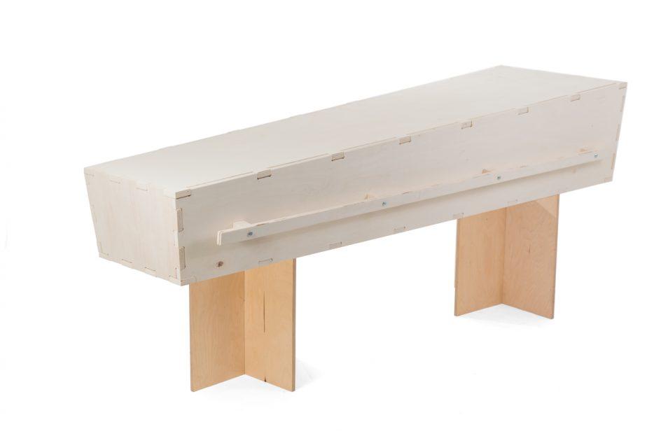 kistschragen kistbokjes uitvaartkist transparant rechthoek hout