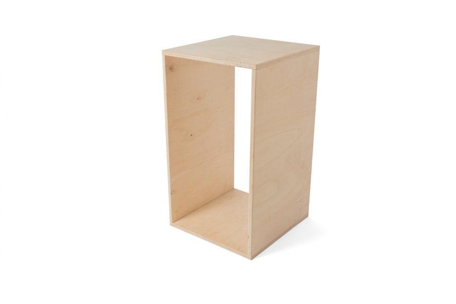 sokkel bloemenstandaard hout uitvaart medium uitvaartbenodigdheden Beerenberg bloemenstandaard Sokkel rechthoek Beerenberg groot schuin