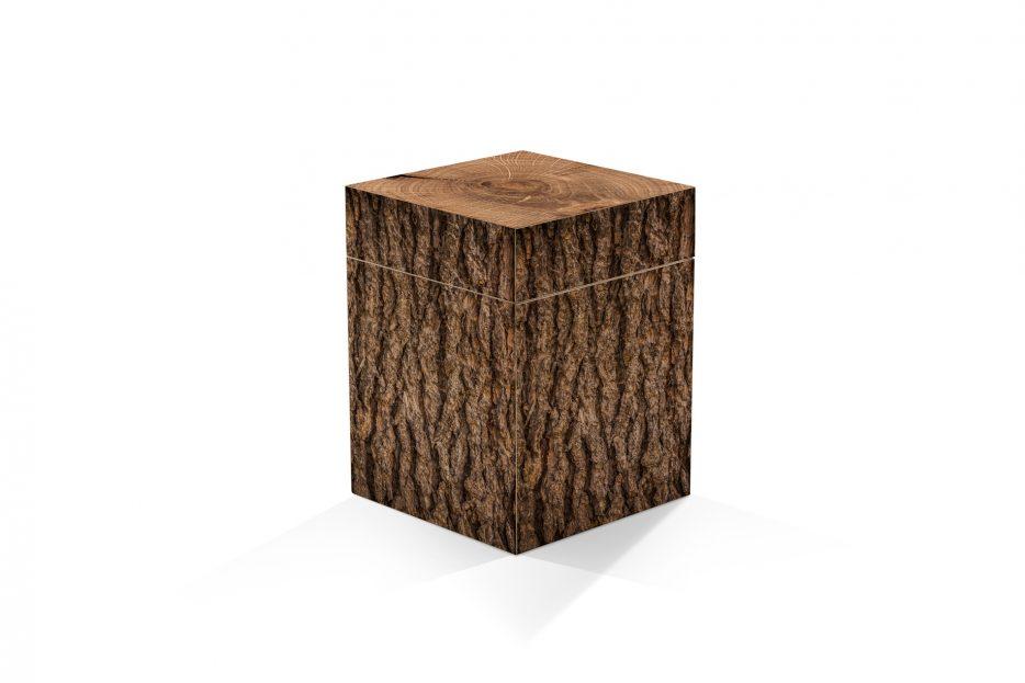 urn kistje hout as, rechthoek, Beerenberg boomstam, urnkistje, urnen