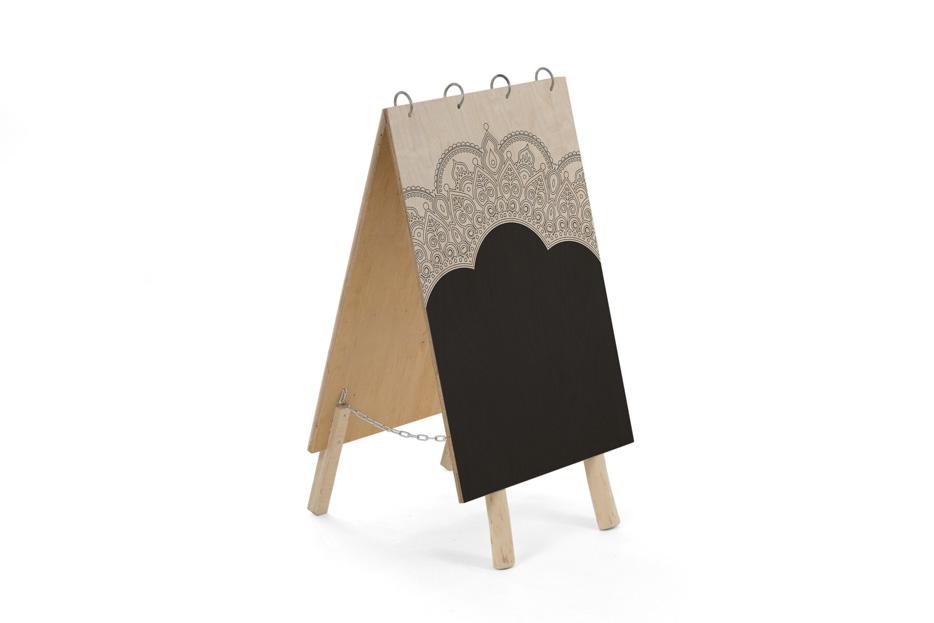 ornament Uitvaart bord, uitvaart benodigdheden uitvaartonderneming, schoolbord krijt, Beerenberg