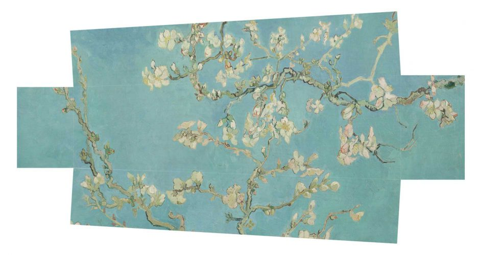 Uitvaartkistkist amandelbloesem van Gogh