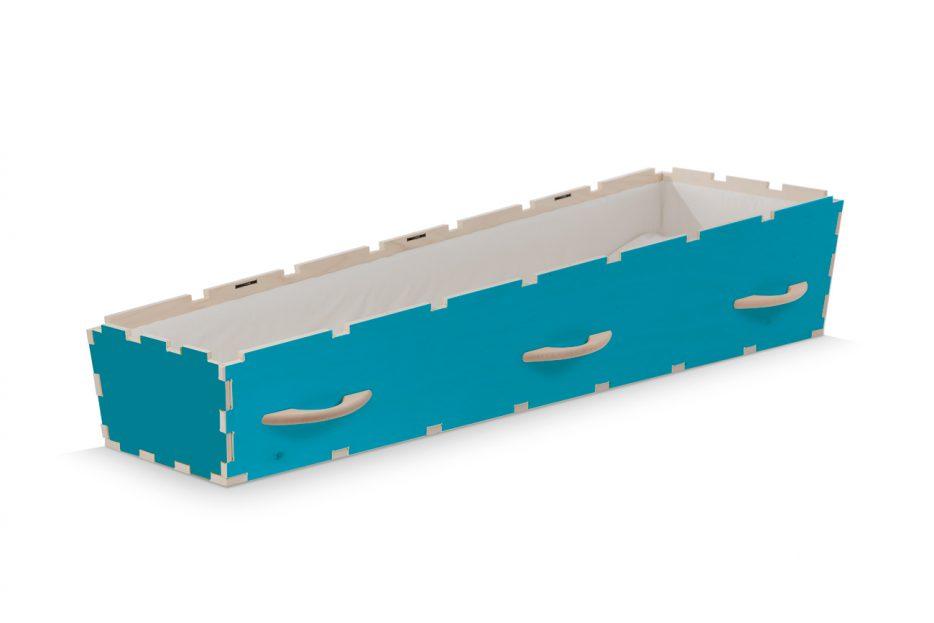 DIY doodskist, kleur blauw, Beerenberg uitvaartkist