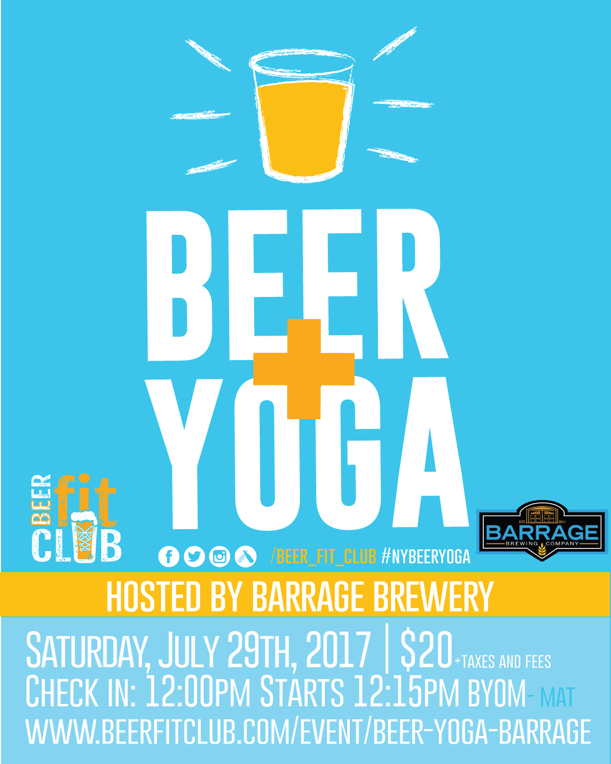 Beer Yoga At Barrage