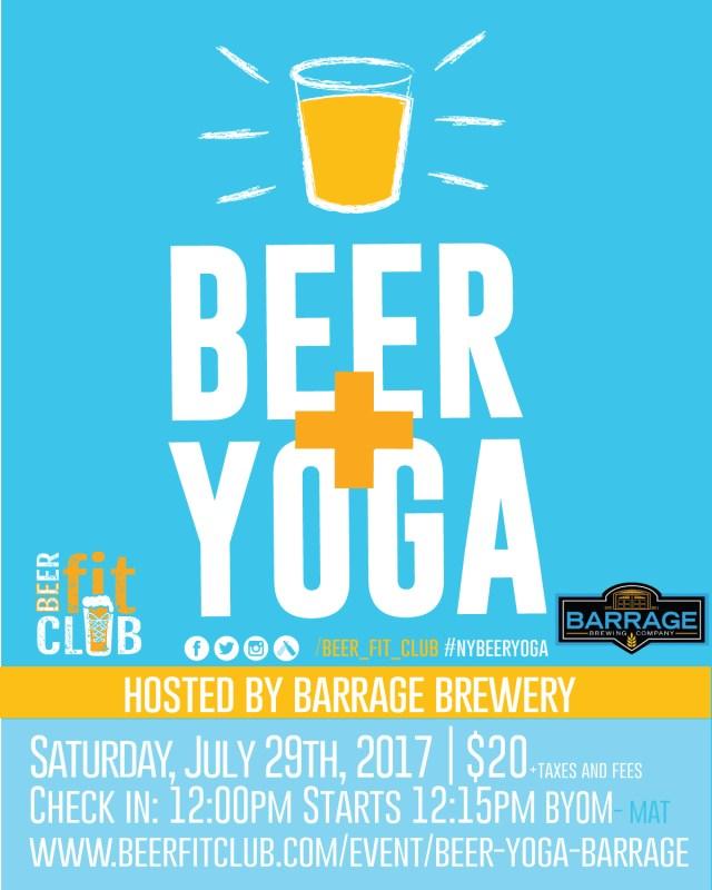 Beer + Yoga at Barrage