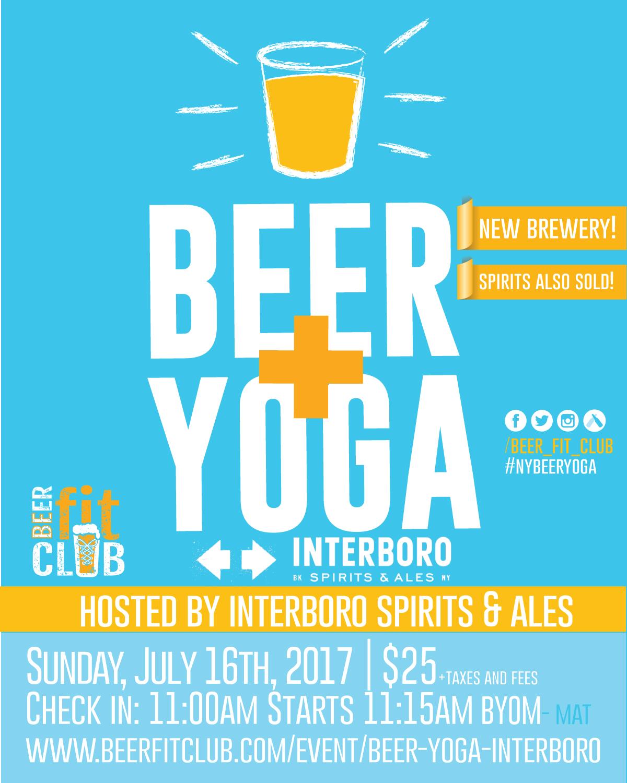 Beer+Yoga at Interboro