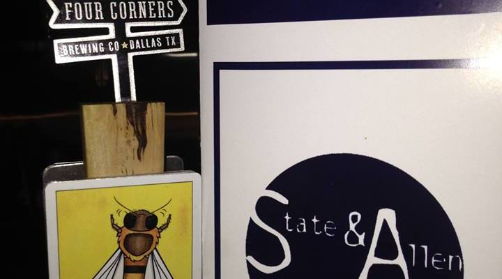 State & Allen Uptown Four Corners Beer Dinner Signage