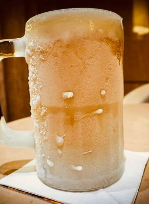 frozen beer