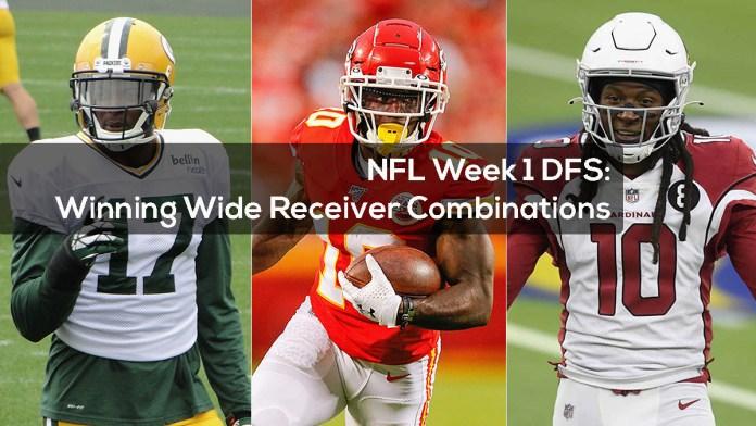 NFL Week 1 DFS- Winning Wide Receiver Combinations