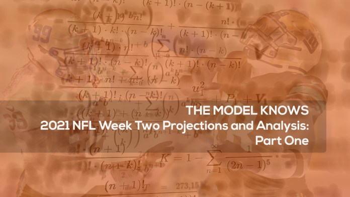 2021 NFL Week Two Projections and Analysis- Part One