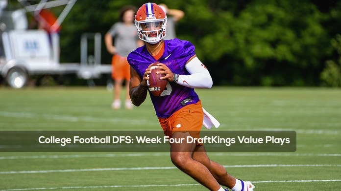 College Football DFS- Week Four DraftKings Value Plays