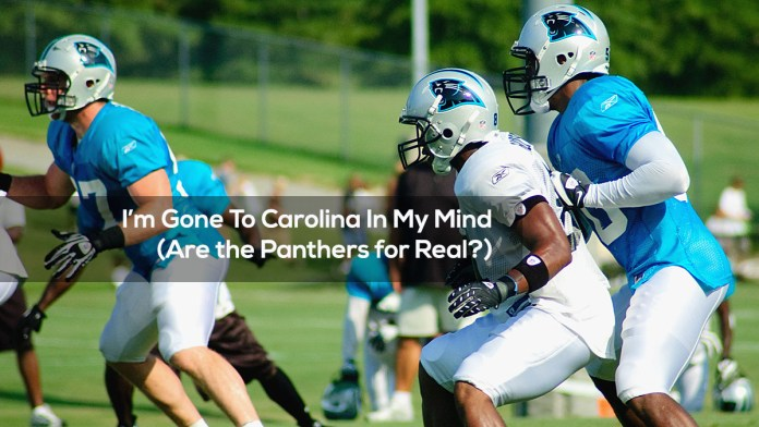 I'm Gone To Carolina In My Mind (Are the Panthers for Real?)