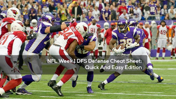 NFL Week 1 DFS Defense Cheat Sheet- Quick And Easy Edition