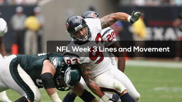 NFL Week 3 Lines and Movement