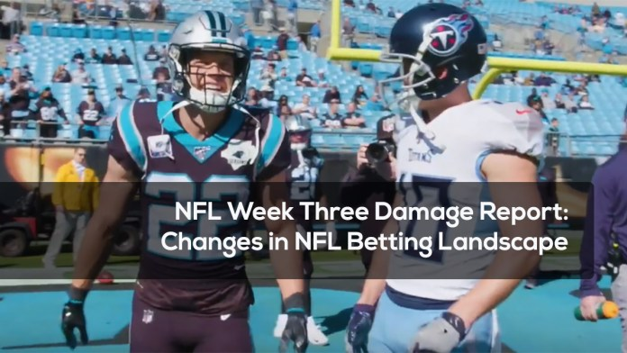 NFL Week Three Damage Report- Changes in NFL Betting Landscape