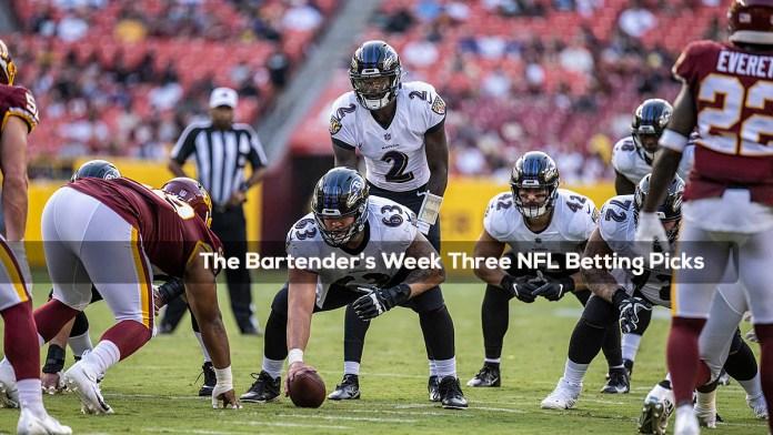The Bartender's Week Three NFL Betting Picks