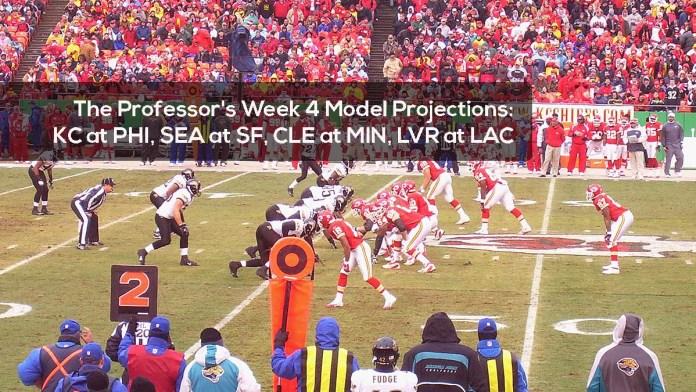 The Professor's Week 4 Model Projections- KC at PHI, SEA at SF, CLE at MIN, LVR at LAC